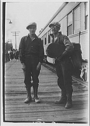 two men near train (old)