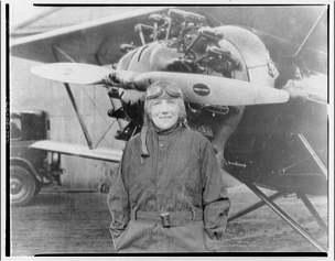 woman flier