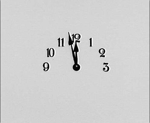 clock face ( almost 12 )