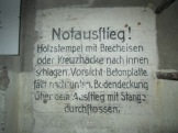 German sign in bunker