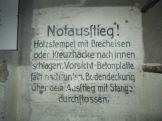 German sign in bunker