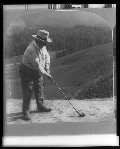 Taft golfing