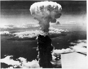 1945, first atomic bomb dropped