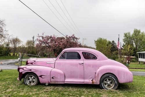 car old pink