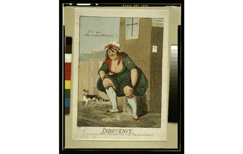 indecency cartoon 1799