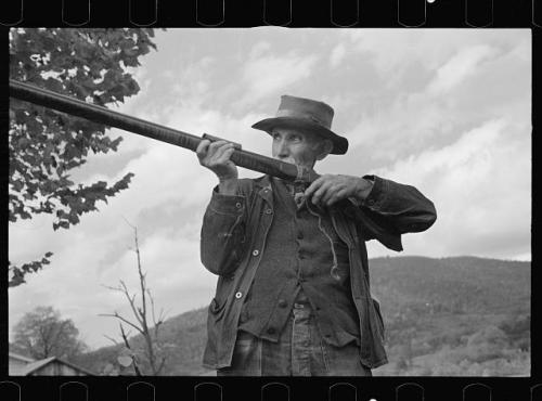 man with gun 1930