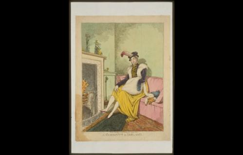 ireland drawing 1814 woman