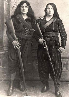 women-with-2-rifles