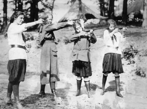 girl scout shooters 1920