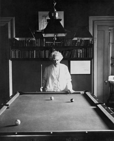 mark twain plays pool