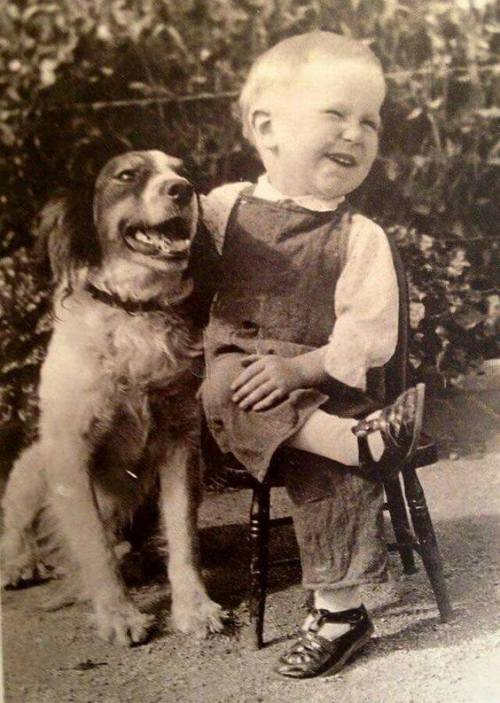 boy and dog 1920