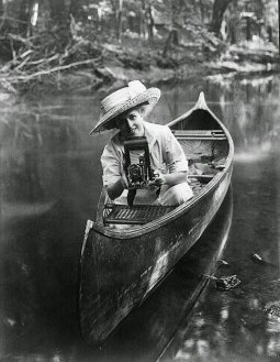 photographer canoe