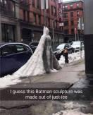 bat man ice sculpture