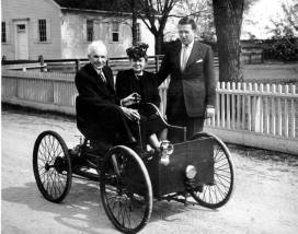 ford in his car