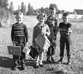 school kids 1950